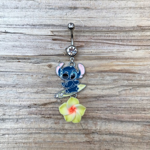 Stitch Hawaiian Belly Button Ring Boutique